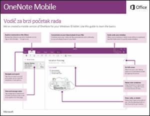Vodič za brzi početak u aplikaciji OneNote Mobile