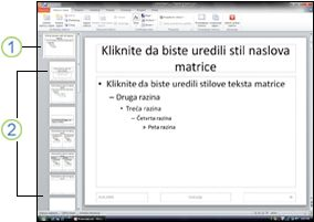 Matrica i rasporedi slajdova