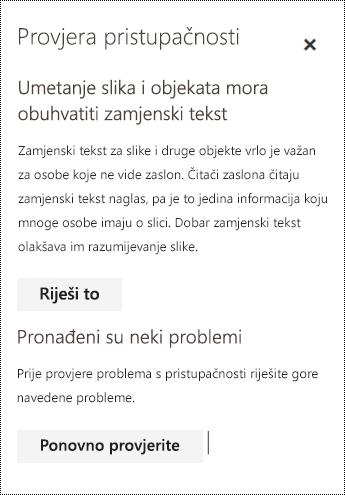 Provjerite ima li u porukama e-pošte problema s pristupačnošću u aplikaciji Outlook na webu.