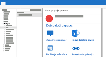Pregled i čitanje razgovora u grupi te odgovaranje na njih u programu Outlook za Mac