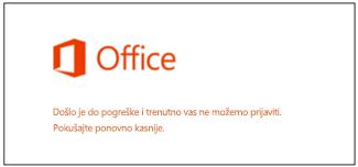 Problem prilikom prijave na Microsoftov račun