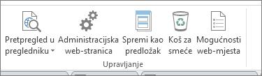 Upravljanje gumbe za web-mjesta