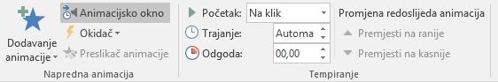"Mogućnost ""Animiraj prema slovu"""