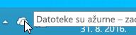 Snimka zaslona koja pokazuje bijelu ikonu aplikacije OneDrive u sustavu Windows 8.1.
