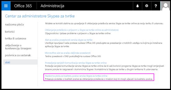 Alati programa Skype za tvrtke