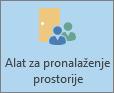 Outlook, gumb Alat za pronalaženje prostorije