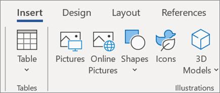 Umetanje slika u programu Word