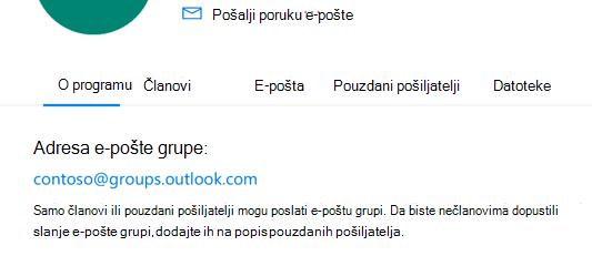 Dodajte pouzdane pošiljatelje u grupu Outlook.com grupi.