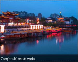 Slika s automatski generirani zamjenski tekst na donjem rubu slike u programu Word za Windows.