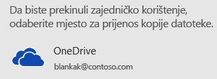 Ako još niste spremili prezentaciju na OneDrive ili u SharePoint, PowerPoint će od vas zatražiti da to učinite.