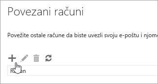 Snimka zaslona s gumbom Novo.