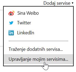 Upravljanje servisima