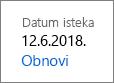 Obnavljanje pretplate na Office 365 Home.