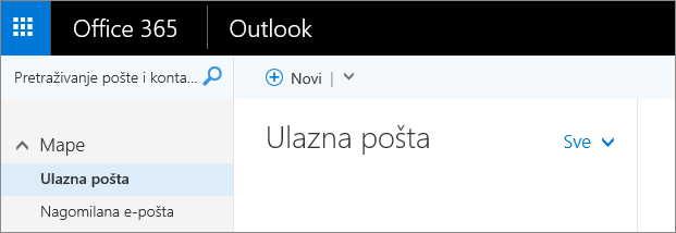 Slika izgleda vrpce u programu Outlook na webu.