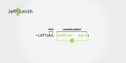 formula za izdvajanje imena