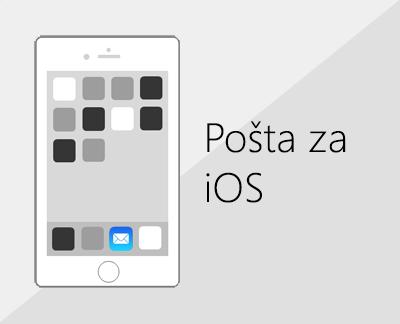 Kliknite da biste postavili e-poštu u aplikaciji Pošta u sustavu iOS
