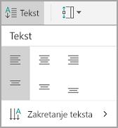 Poravnanje teksta u tablicu sa sustavom android