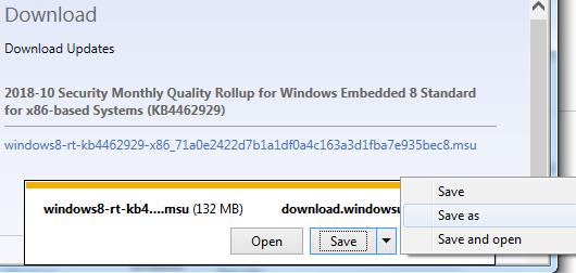 Preuzmite ažuriranje WE8S iz Microsoft Update Catalog
