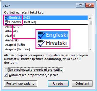 ikona za provjeru pravopisa i gramatike