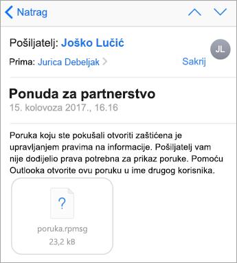 Ako vaš administrator nije dopuštena ne vidite zaštićeni poruka u aplikaciji pošta za iOS
