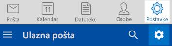 Postavke programa Outlook za iOS i Android