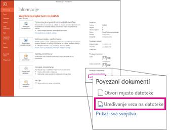 Uređivanje veza na datoteke