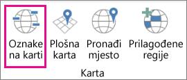 Mogućnost Oznake karti na 3D kartama