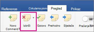 Slika gumba Zaglavlje i podnožje u web-aplikaciji Word Web App