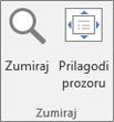 Zumiranje grupe na vrpci programa PowerPoint