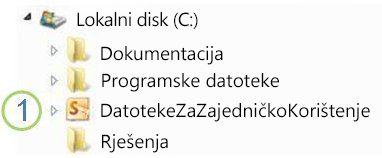 ikona zajedničke mape u programu windows explorer