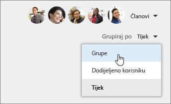 Grupiraj prema grupama