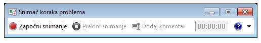 Snimka zaslona sa snimačem koraka ili datotekom PSR.exe.