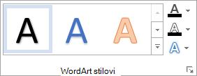Grupa WordArt stilovi