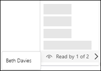 Teams snimka zaslona radne površine potvrde o čitanju.