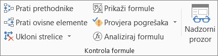 Grupa Nadzor formula na kartici Formule