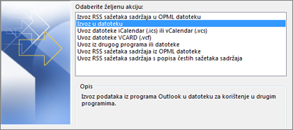 Datoteka za izvoz
