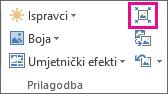 Grupa Prilagodba, smanjena veličina u kojoj se prikazuju samo ikone