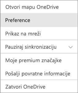 Centar za aktivnosti na servisu OneDrive za Mac