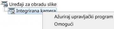 Snimka zaslona s upraviteljem uređaja