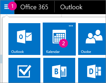 Outlook Web App, otvorite kalendar programa