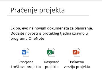 Ugrađene datoteke na stranici u aplikaciji OneNote za Windows 10