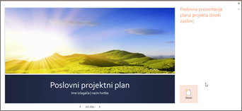 predložak poslovnog plana