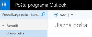 Ovako izgleda nova vrpca za Outlook.com