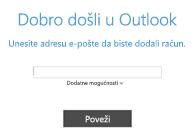 Dodavanje novog računa za e-poštu