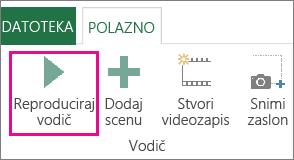 Gumb Reproduciraj predstavljanje u prozoru dodatka Power Map
