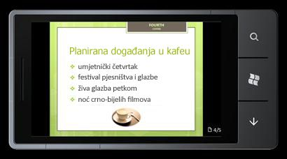 PowerPoint Mobile 2010 za Windows Phone 7: uređivanje i prikaz na telefonu