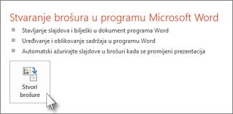 Stvori brošure u programu Word