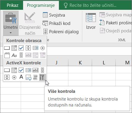 ActiveX kontrole na vrpci