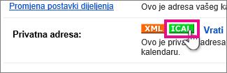 Google Kalendar – da biste stvorili privatne ical