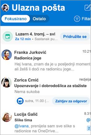 Prikaži mapu ulazne Outlook ulazne pošte